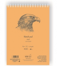 Скетчбук SM-LT Art Authentic Kraft 90г/м2 A5 60 листов спираль по короткой стороне