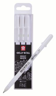 Набор белых гелевых ручек Sakura Gelly Roll 3 штуки (0.3мм) в блистере