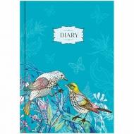 """Ежедневник недатированный, В6, 160 л, OfficeSpace """"Цветы. Birds in flowers"""""""