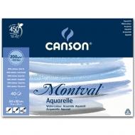 Бумага для акварели Montval CANSON, 200 г/м2, 24х32 см, 40 листов