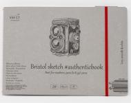Альбом SM-LT Art Authentic Bristol 185г/м2 24.5х17.9см 18 листов с закладкой-застежкой книжный переплет (сшитый)