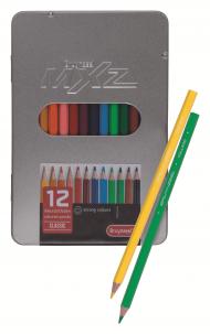 Набор цветных карандашей Bruynzeel MXZ 12 цветов в металлической упаковке.