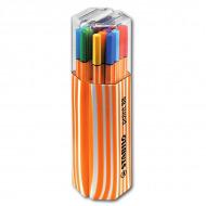Набор капиллярных ручек Point 88 STABILO для рисования и черчения, 20 цветов в пенале Twin Pack