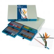 Подарочный набор акварельных карандашей Bruynzeel Design Aquarel, 48 цветов и кисть