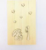 Заготовка Timberlicious для декорирования  панно 25х16см