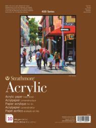 Альбом для акрила Strathmore 400 Series Acrylic 400г/кв.м, 23х30,5см, 10л
