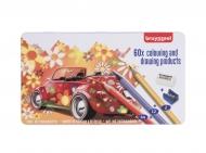 Набор цветных карандашей Bruynzeel 'Машина' 58 карандашей+ластик+точилка в металлической упаковке