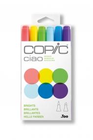 Набор маркеров Copic Ciao Brights 6 штук в пластиковой упаковке