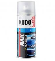 Лак KUDO 1К акриловый, KU-9010, аэрозоль 520 мл