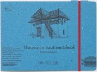 Альбом для акварели Authentic Watercolor 280г/м2 (целлюлоза) 24.5*17.5см 12л книжный переплет (сшитый)