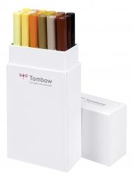 Набор маркеров Tombow ABT set еarth colors 18 шт., натуральные цвета