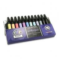 Набор художественных маркеров Chartpak BASIC Plastic box (основные цвета), 12 шт
