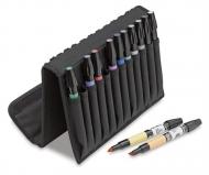 Набор художественных маркеров Chartpak BASIC Plastic Travel Case (основные цвета), 12 шт