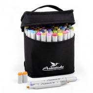 Набор художественных маркеров для скетчинга  Artisticks ARS-100-84, 84 цвета, 2-сторонние, 1-6 мм