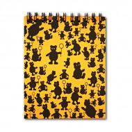 """Блокнот """"Оранжевые мишки"""" Лилия Холдинг, черно/оранжевый 160 г/кв.м, 14,5х18 см, 40 л."""