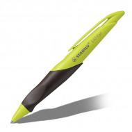 Ручка гелевая EASYgel STABILO для правшей, синяя, 0.5 мм, корпус зеленый киви