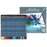 Набор акварельных карандашей для рисования Cretacolor Marino, 24 цвета