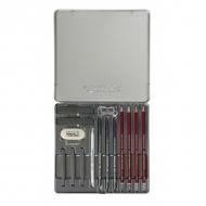 Художественный набор для рисования Cretacolor Silver Box, 15 предметов в металлической коробке