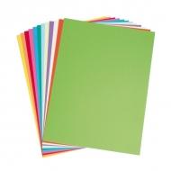 Тонкий цветной картон для рисования и печати Clairefontaine, А4, 120г/м2, упаковка 5 листов