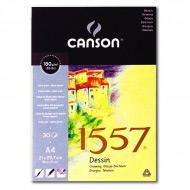 Блок бумаги для рисования 1557 Dessin CANSON, 180 г/м2, формат А4, 30 листов