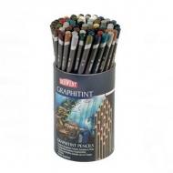 Набор акварельных карандашей Derwent Graphitint, 24 цвета, по 3шт., в тубусе