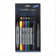 Набор маркеров СОРIС СIАО «Яркие цвета», 5 ярких оттенков и линер Copic Multi liner