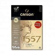 Экстрабелая бумага для рисования CANSON Croquis 1557, 120 гр/м2, формат A4, блок 50 листов