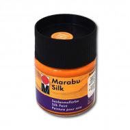 Яркие краски для росписи по тонкому хлопку и всем видам шелка Marabu Silk,50 мл,  цвета в ассорт.