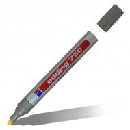 Маркеры перманентные лаковые EDDING 750 для росписи и маркировки, 2-4 мм, черный/белый