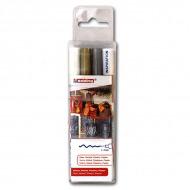 Набор перманентных лаковых маркеров EDDING 751 для росписи и маркировки, 1-2 мм, 3 цвета