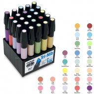 Набор художественных маркеров Chartpak PASTELS (пастельные тона), 25 шт