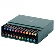 Набор капиллярных ручек для рисования Pitt Artist Pen Faber-Castell, 24 цвета, в футляре из искусственной кожи