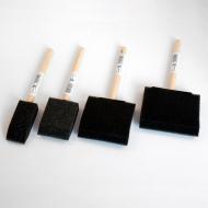 Кисти поролоновые плоские FERRARIO для рисования и декора, размер в ассортименте