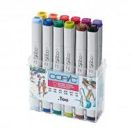 """Набор маркеров Copic Summer """"Летние цвета"""" в пластиковом контейнере 12 цветов"""