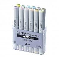 Набор маркеров COPIC Sketch EX-4 (12 шт) двусторонних с супер-кистью