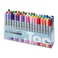Набор маркеров для скетчинга Copic Ciao Set A с кистью, 72 цвета