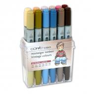 Набор маркеров для рисования и дизайна Copic Ciao «Винтаж», 12 цветов