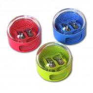 Точилка KUM двойная круглая с крышкой-контейнером, для диаметров 9 и 11 мм