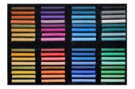 """Пастель сухая художественная мягкая АКВА-КОЛОР набор 64 цвета """"Эффект акварели"""""""
