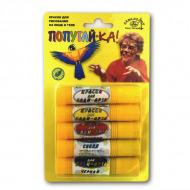 Краски аквагрим для рисования на лице и теле Аква-Колор «Попугай-ка» в карандашах, набор 5 цв.