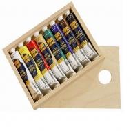 """Набор художественных акриловых красок """"Solo Goya Premium"""" С. Kreul, 8 цветов по 55 мл в тубах"""
