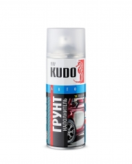 Грунт-наполнитель 1К акриловый Kudo, серый, аэрозоль 520 мл