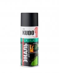 Эмаль термостойкая для мангалов Kudo, аэрозоль 520 мл, черный