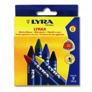 Набор восковых мелков Wax-Giants LYRA для детей, 6 цветов