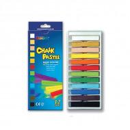Пастель сухая меловая для рисования и детского творчества MUNGYO CHALK 12 цветов