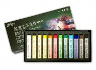 Сухая пастель для рисования мягкая квадратная MUNGYO Gallery Artists Soft 12 цветов