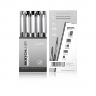 Набор черных линеров для рисования «Sketchliner» Montana, наконечники 0.1-0.8 мм, 5 шт.