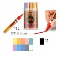 Набор акриловых маркеров Molotow 227HS Pastel-Set для декора и рисования, 12 цв., 4 мм