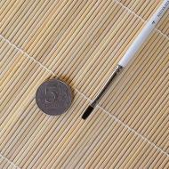 Кисти белка плоские НЕВСКАЯ ПАЛИТРА, короткая ручка, диаметр в ассортименте
