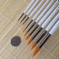 Универсальные кисти синтетика круглые НЕВСКАЯ ПАЛИТРА, длинная ручка, в ассорт.